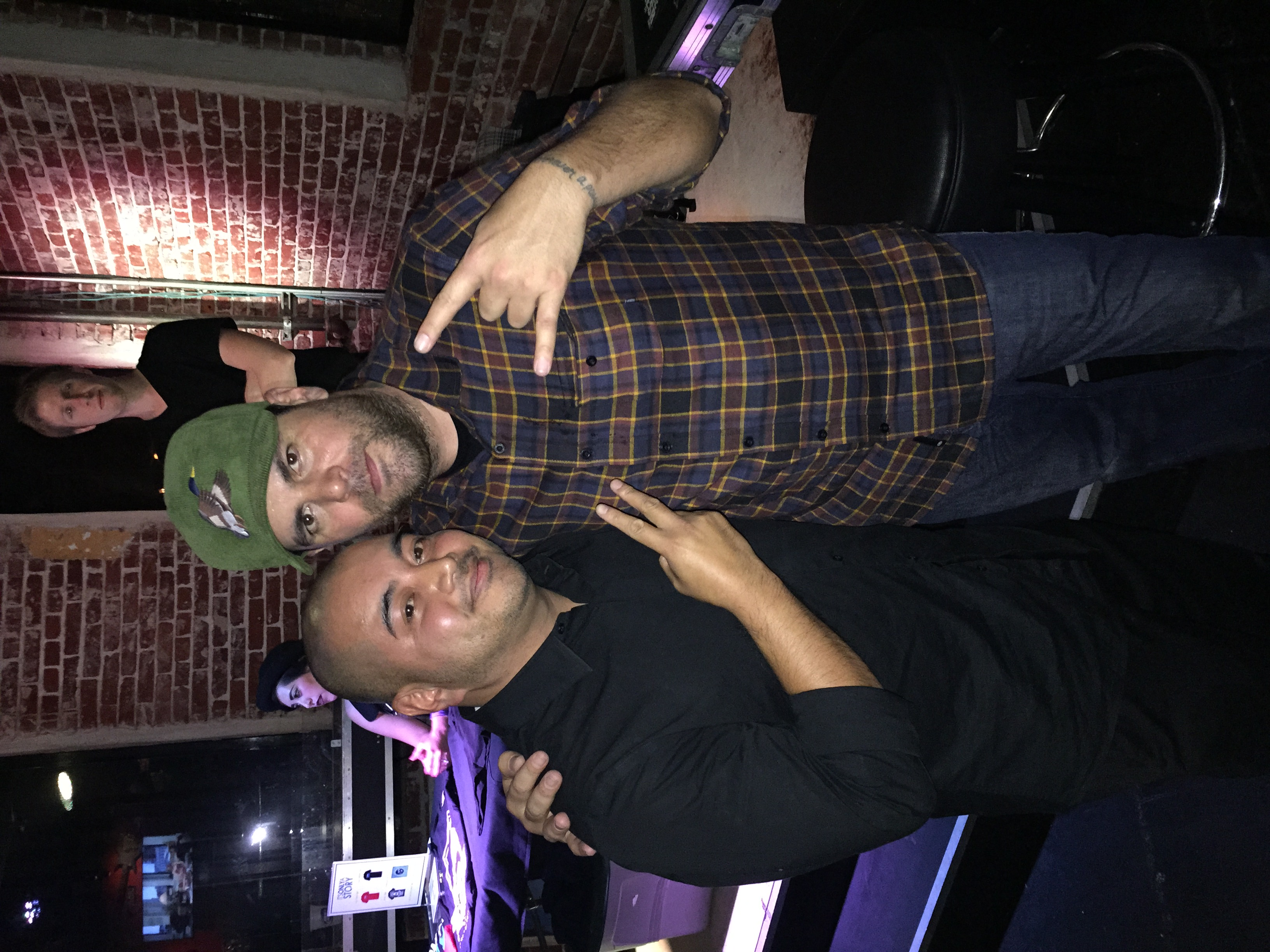 Alien Ant Farm's Dryden Mitchell and JJ after an event.