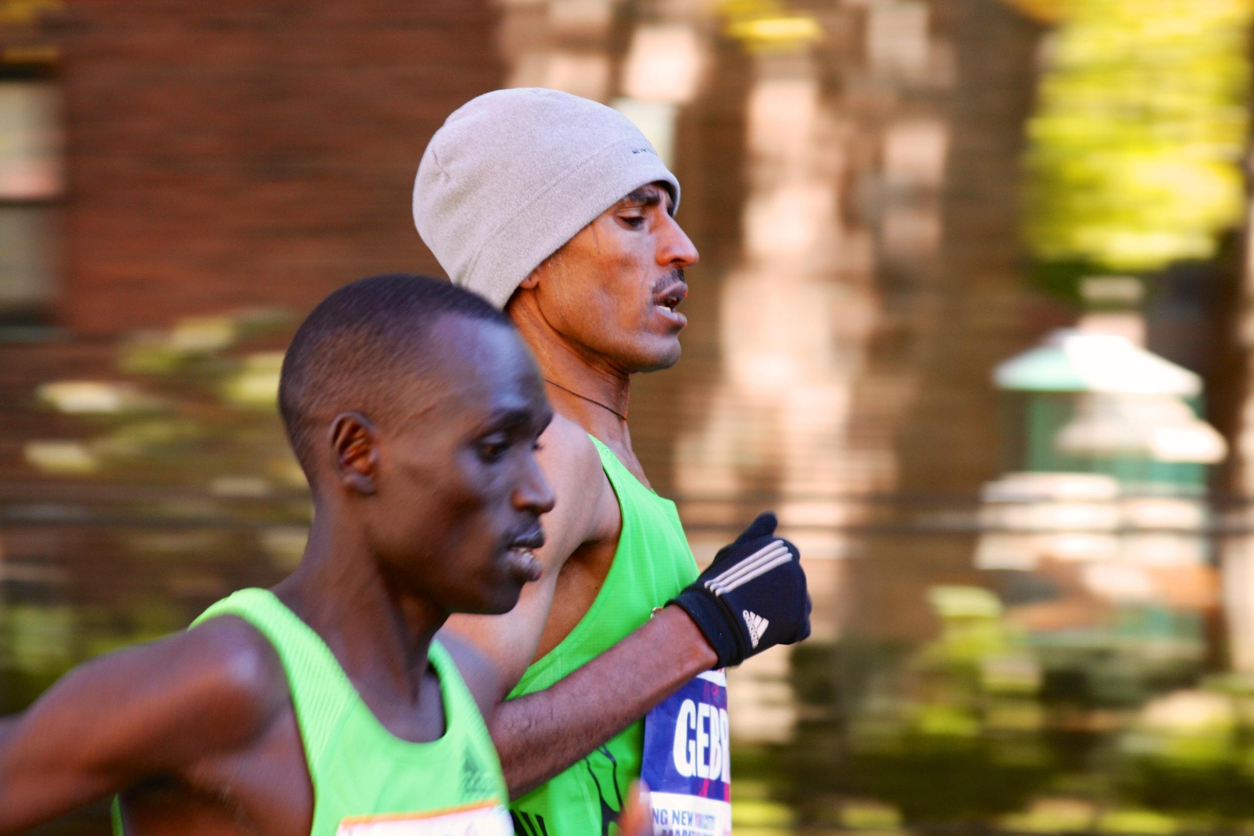 Gebre Gebrmariam and Emmanuel Mutai