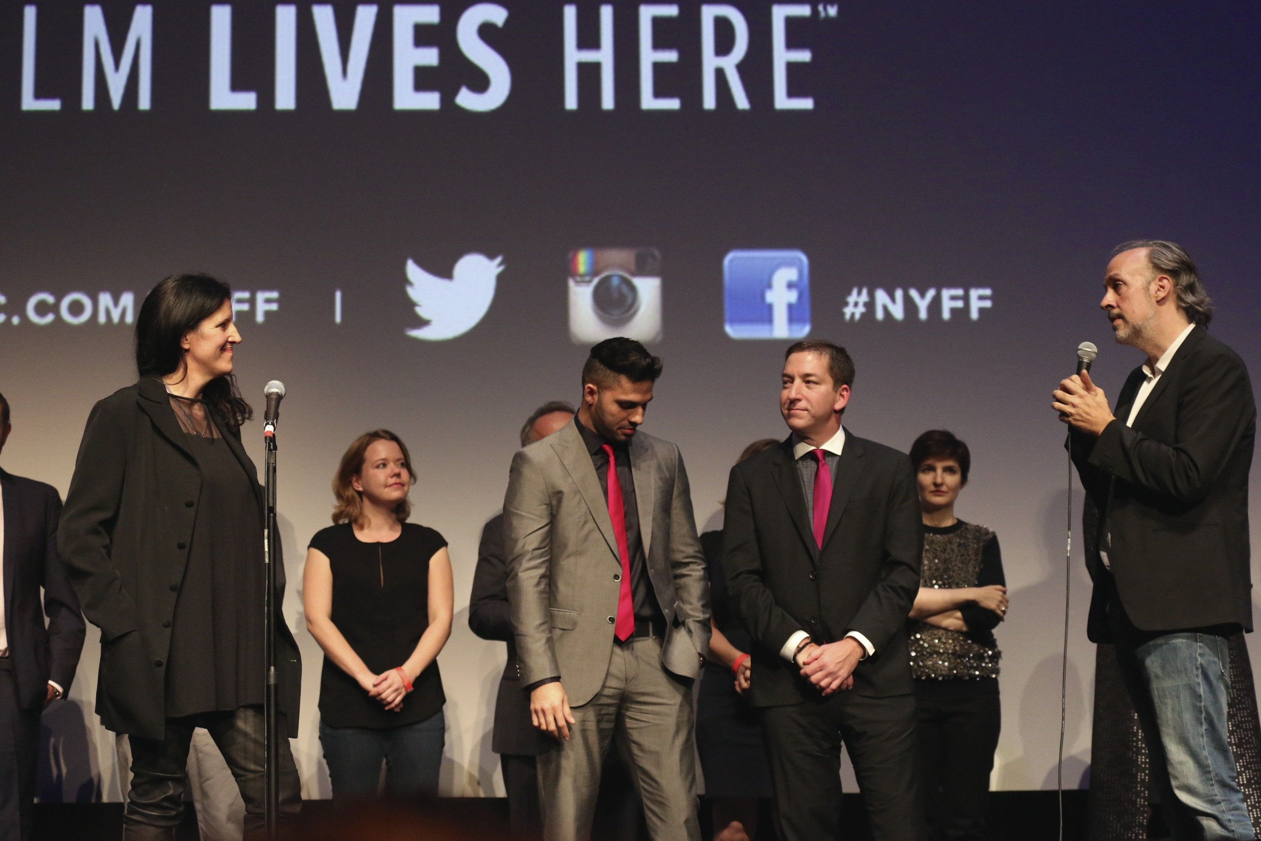 Laura Poitras, David Miranda, Glenn Greenwald, Kent Jones