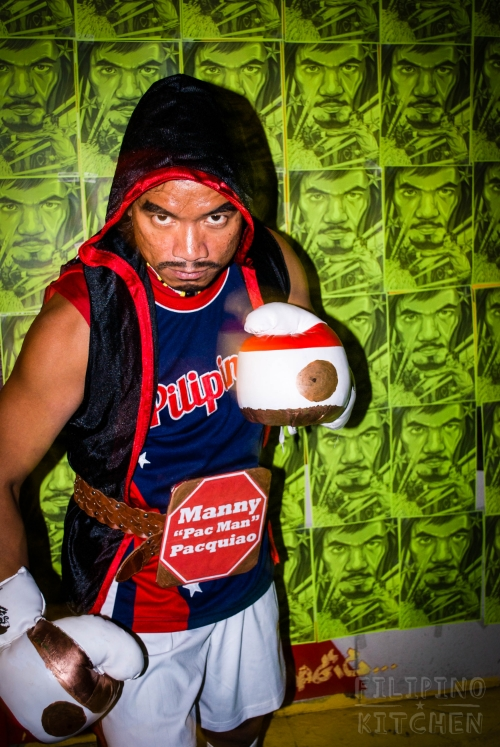 Levi Aliposa as Manny Pacquiao at Streets of Manila