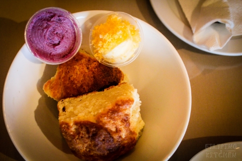 Ube Halaya Cream Cheese Schmear, Ensaymada Butter and Bang Bang Pie's Biscuits