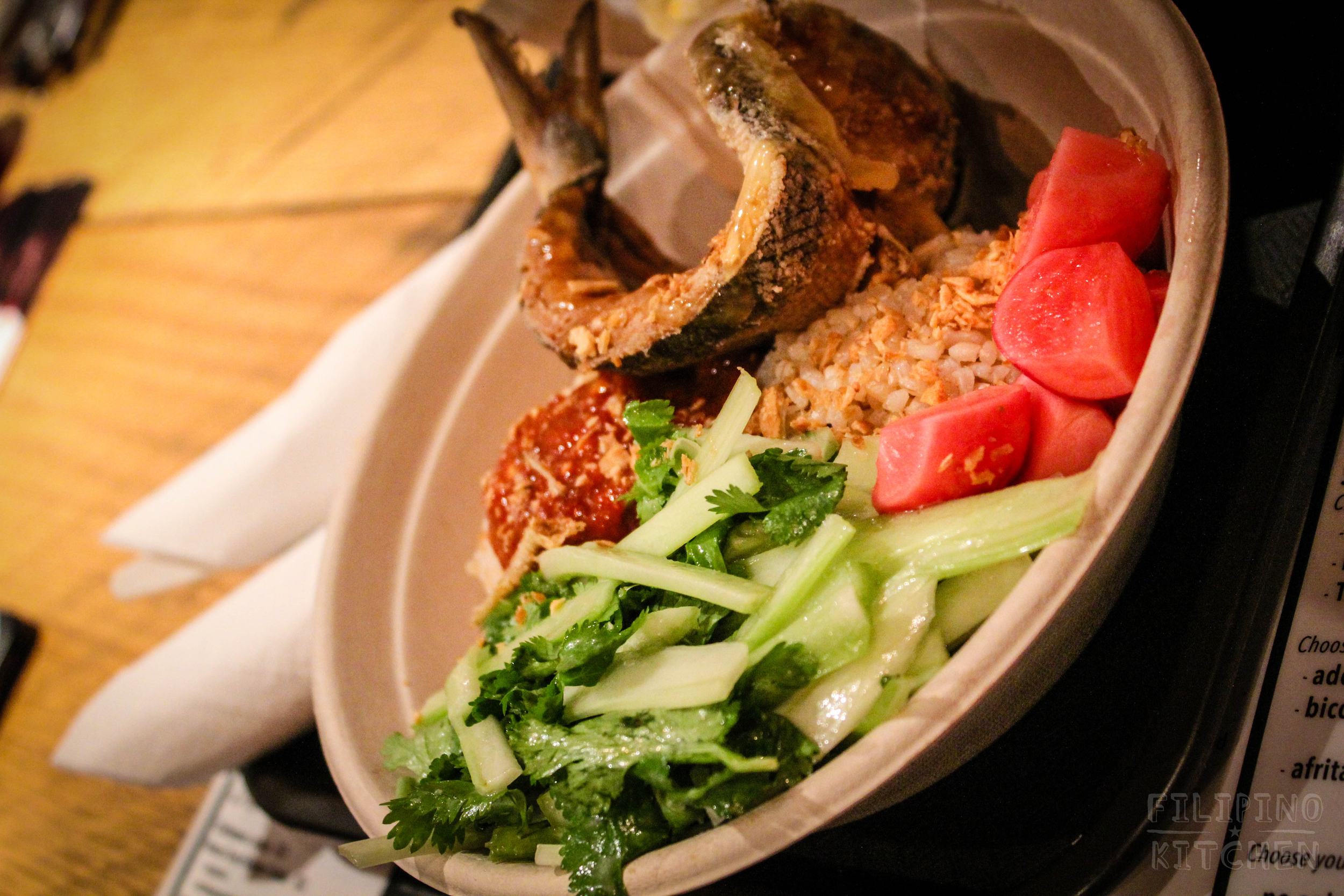 Fried Milkfish Rice Bowl