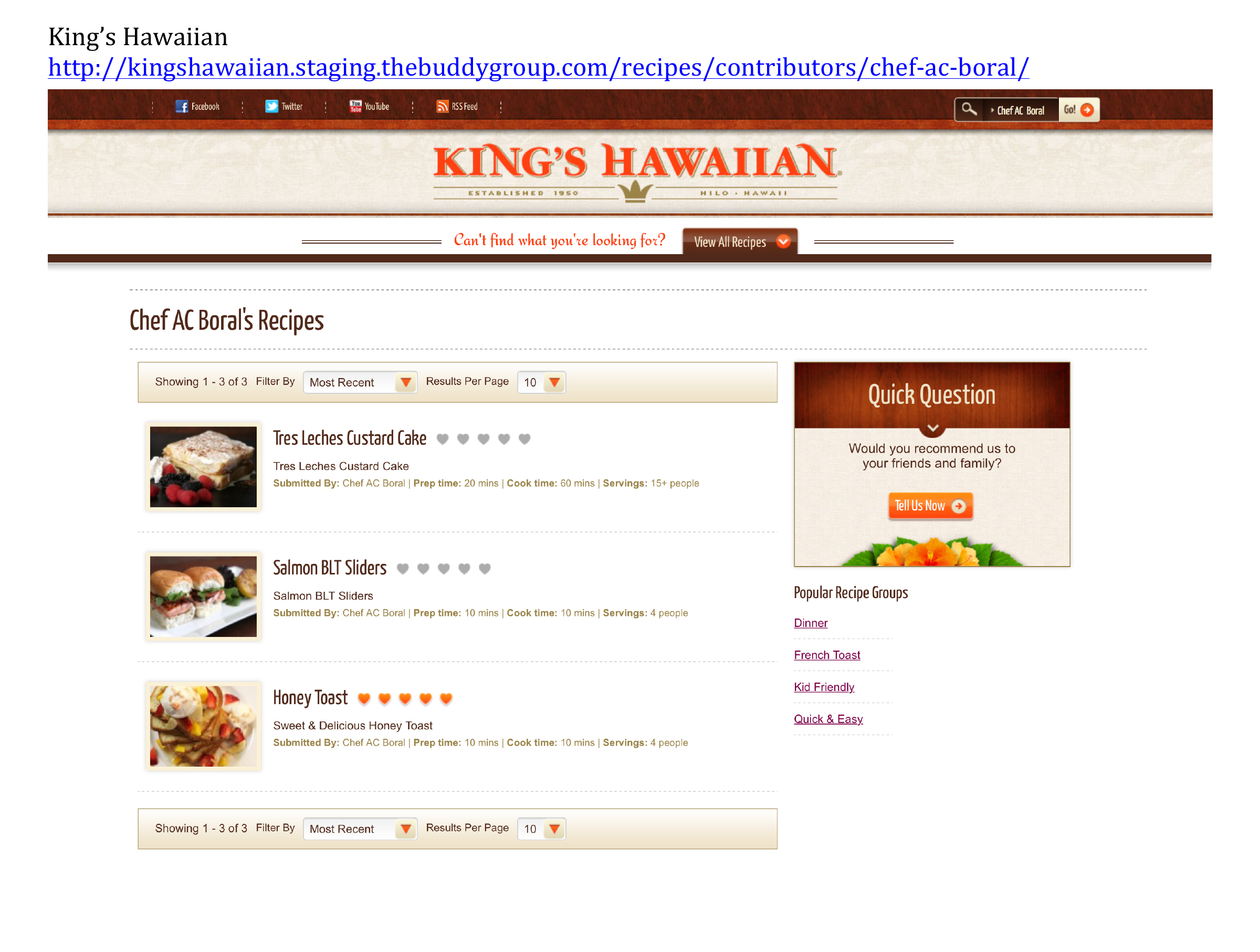 kings hawaiian ac boral