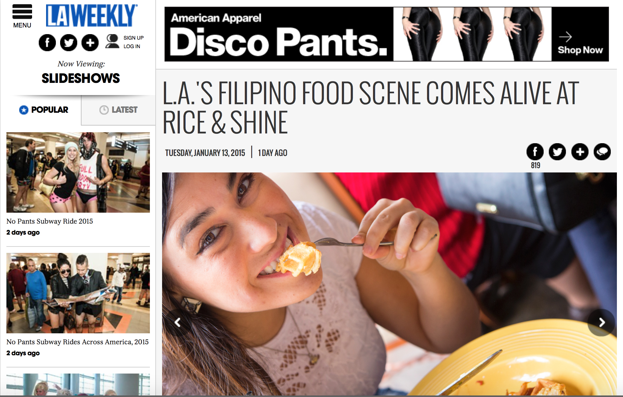 L.A. Weekly Rice and Shine