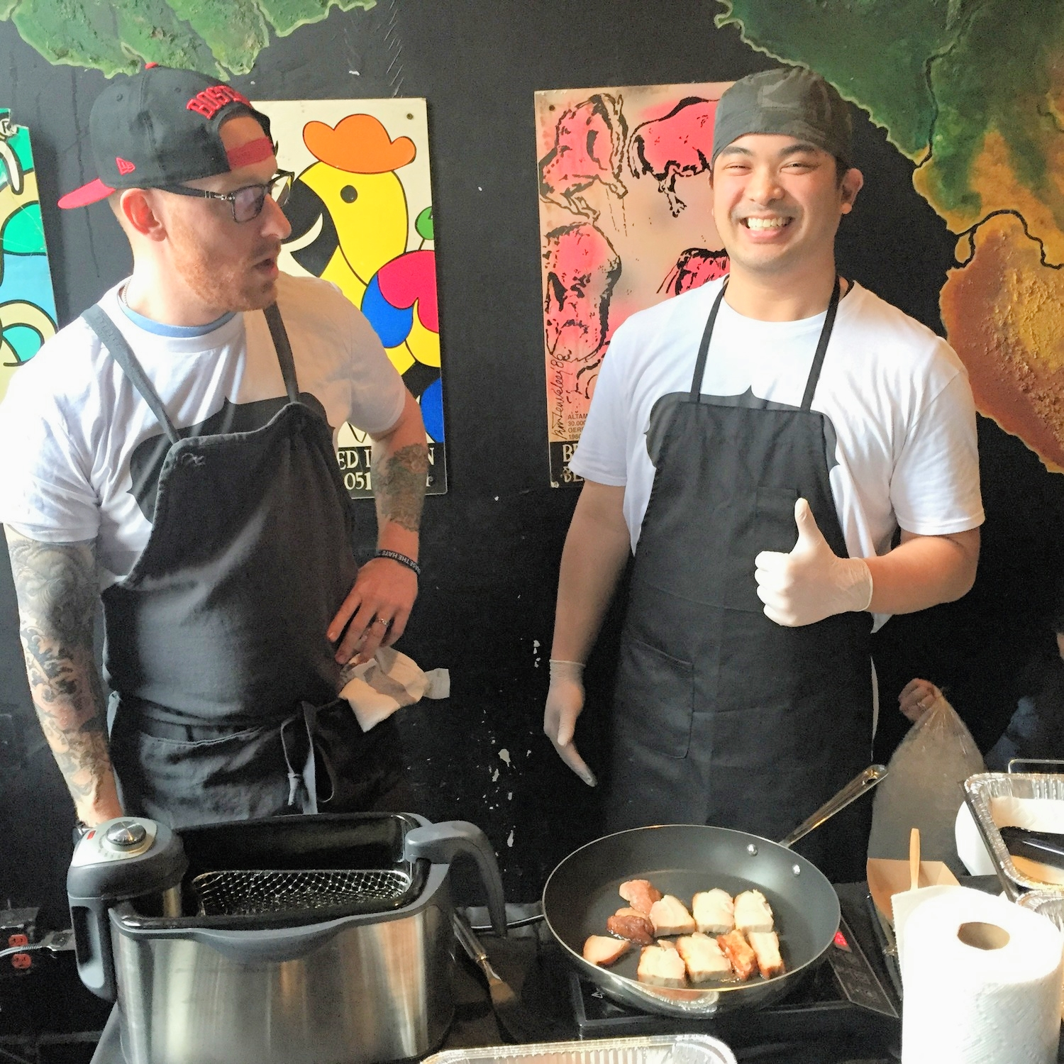 Chef Ben Sussman and Rampelle Aguilar of Oxtail: Filipino Inspired
