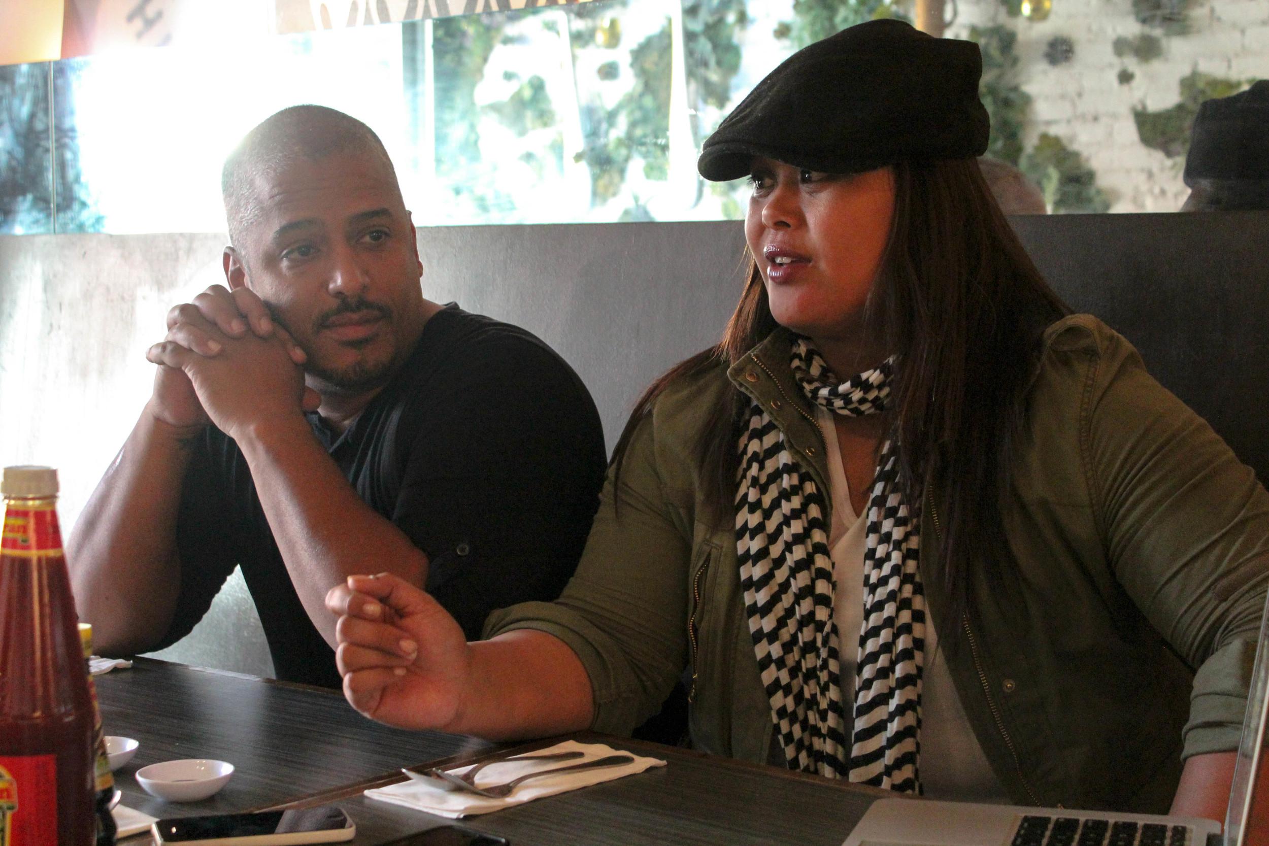 Chef Miguel Trinidad and Nicole Ponseca