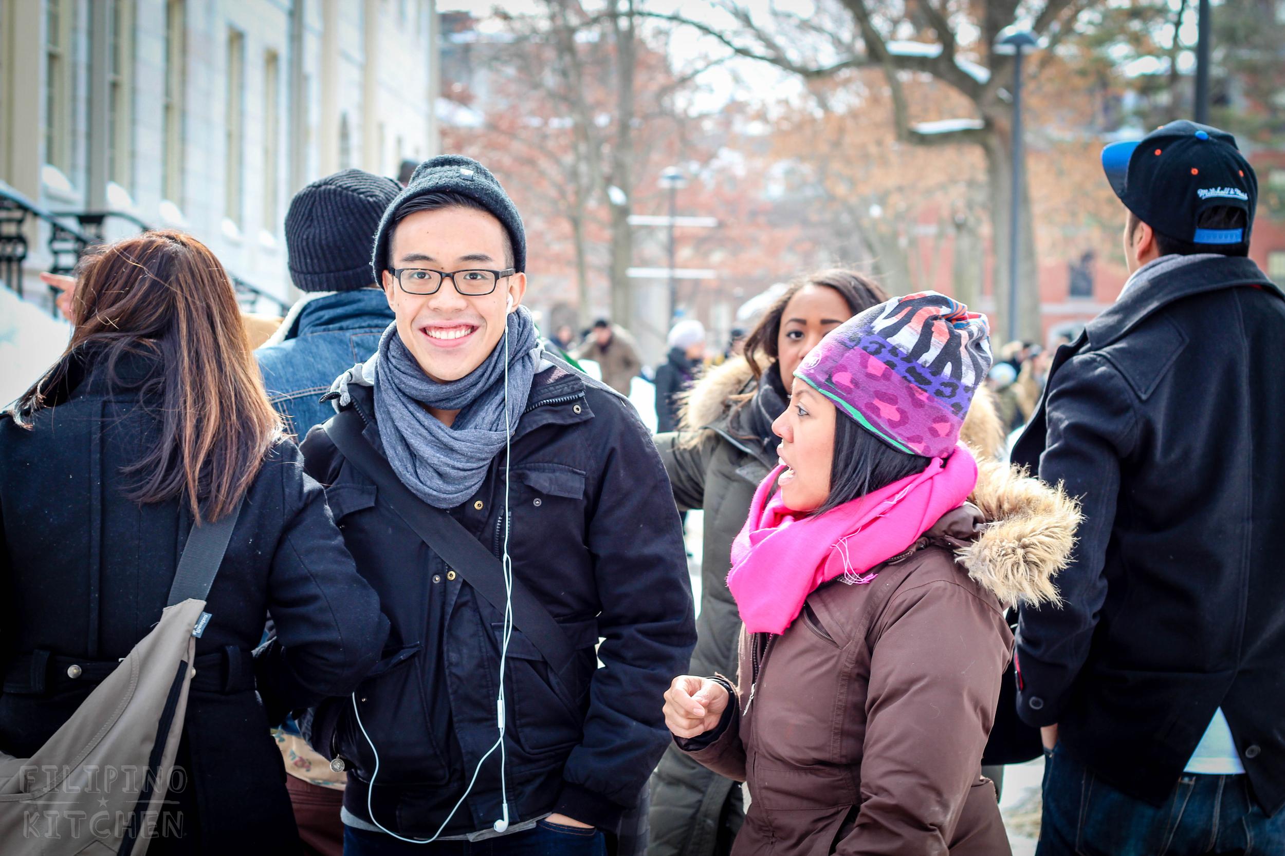 FKEDUP crew getting lost in Harvard.