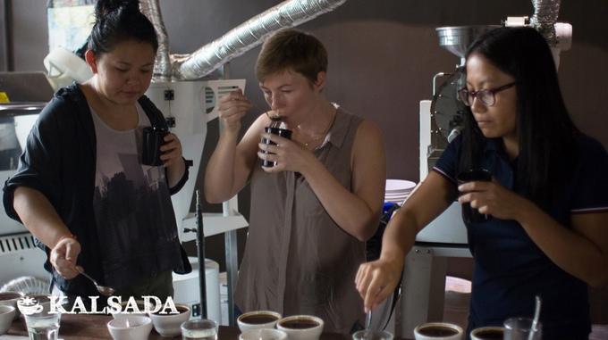 Team Kalsada (left to right): Carmel Laurino, Lacy Wood and Theresa Domine. Photo courtesy of Kalsada.