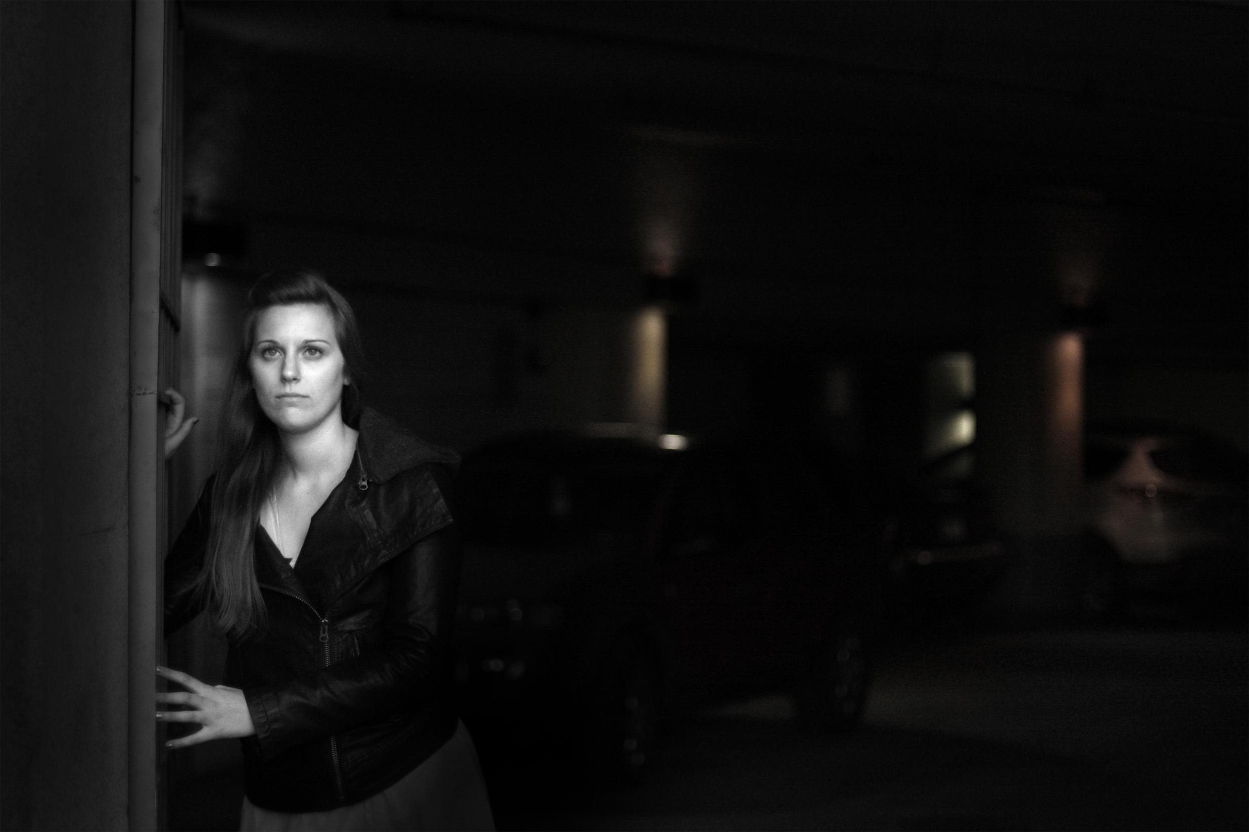 Lindsey Meekhof as the femme fatale.