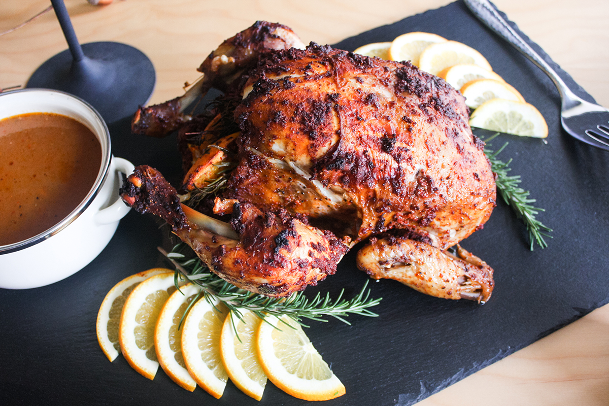 Spicy Citrus Whole Roasted Chicken