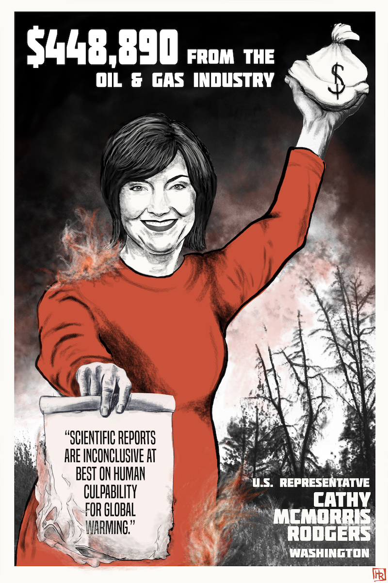 The Cost of Denial, U.S. Representative Cathy McMorris Rodgers, Political Campaign Financing