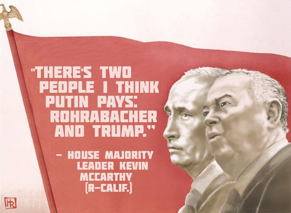 The Cost of Denial Dana Rohrabacher Russia Denial Campaign Finance Poster