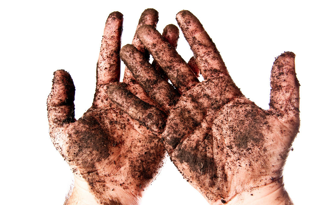 Not afraid to get his hands dirty!