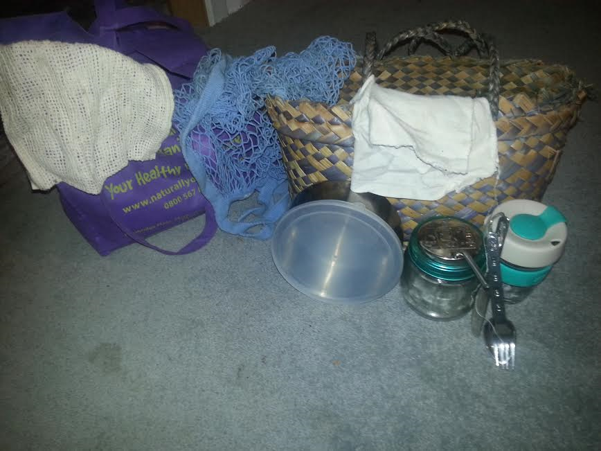 My going out kit - which I always have in the car or hanging up in the kitchen after cleaning - all ready to go!