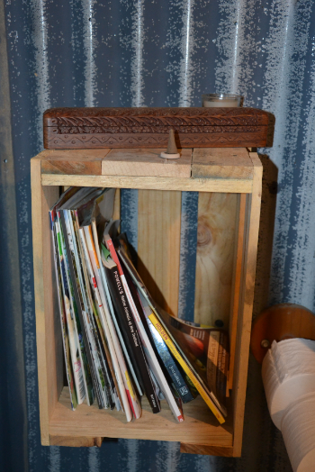 Note: Marco has added another piece of wood up the top, so we can use as a shelf as well.