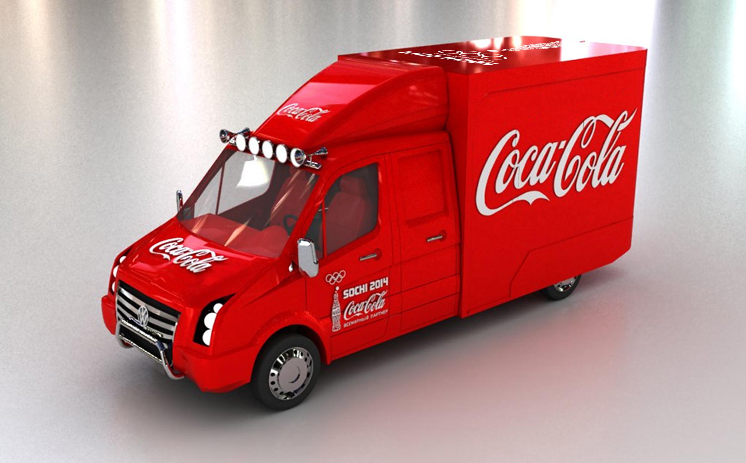 HEART design coca cola winter olympics 2014 truck
