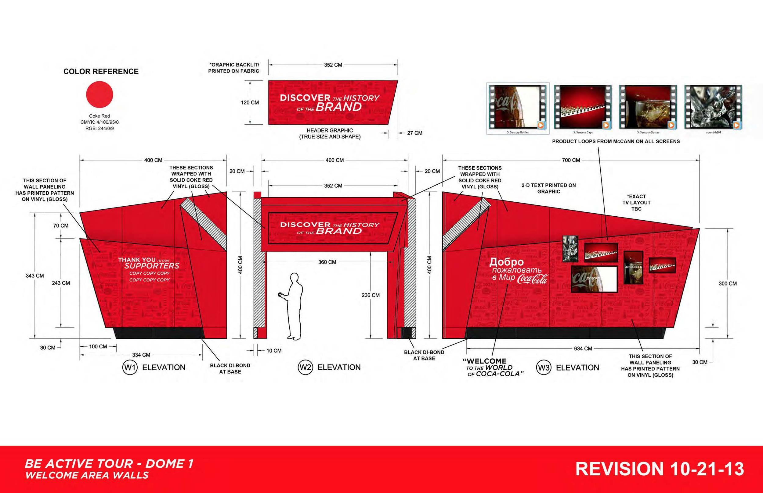 HEART event design coca cola sochi 2014