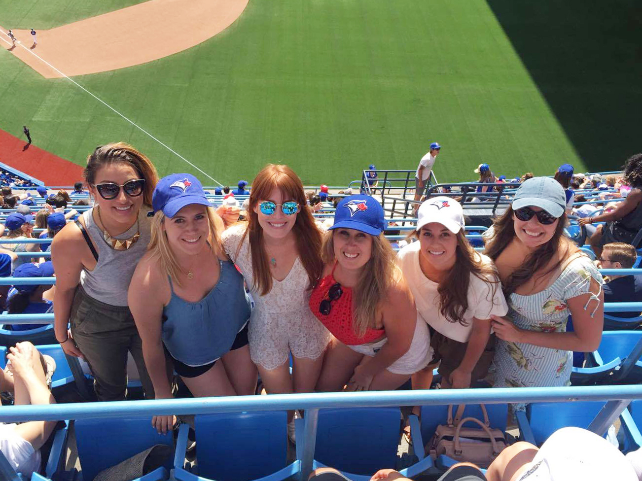 At a Blue Jays game.