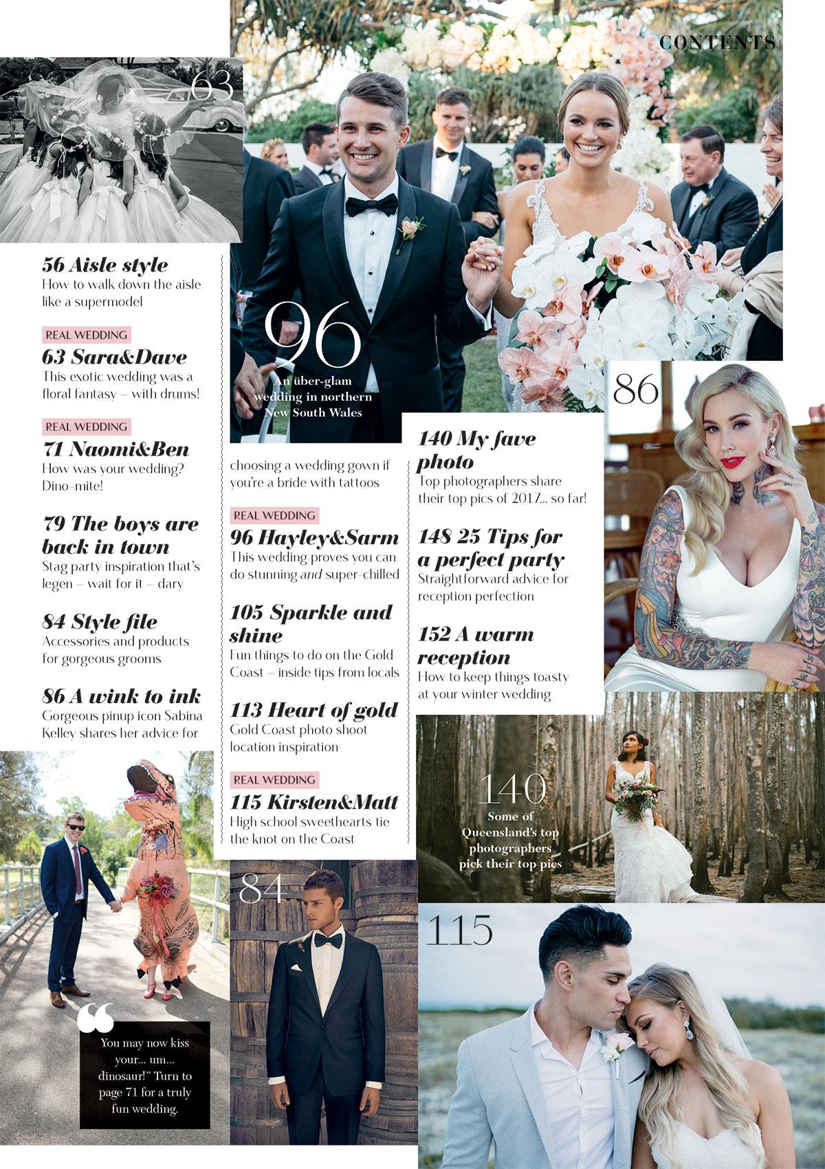 Moments by Frankie Brisbane wedding photographer featured in Queensland Brides Magazine