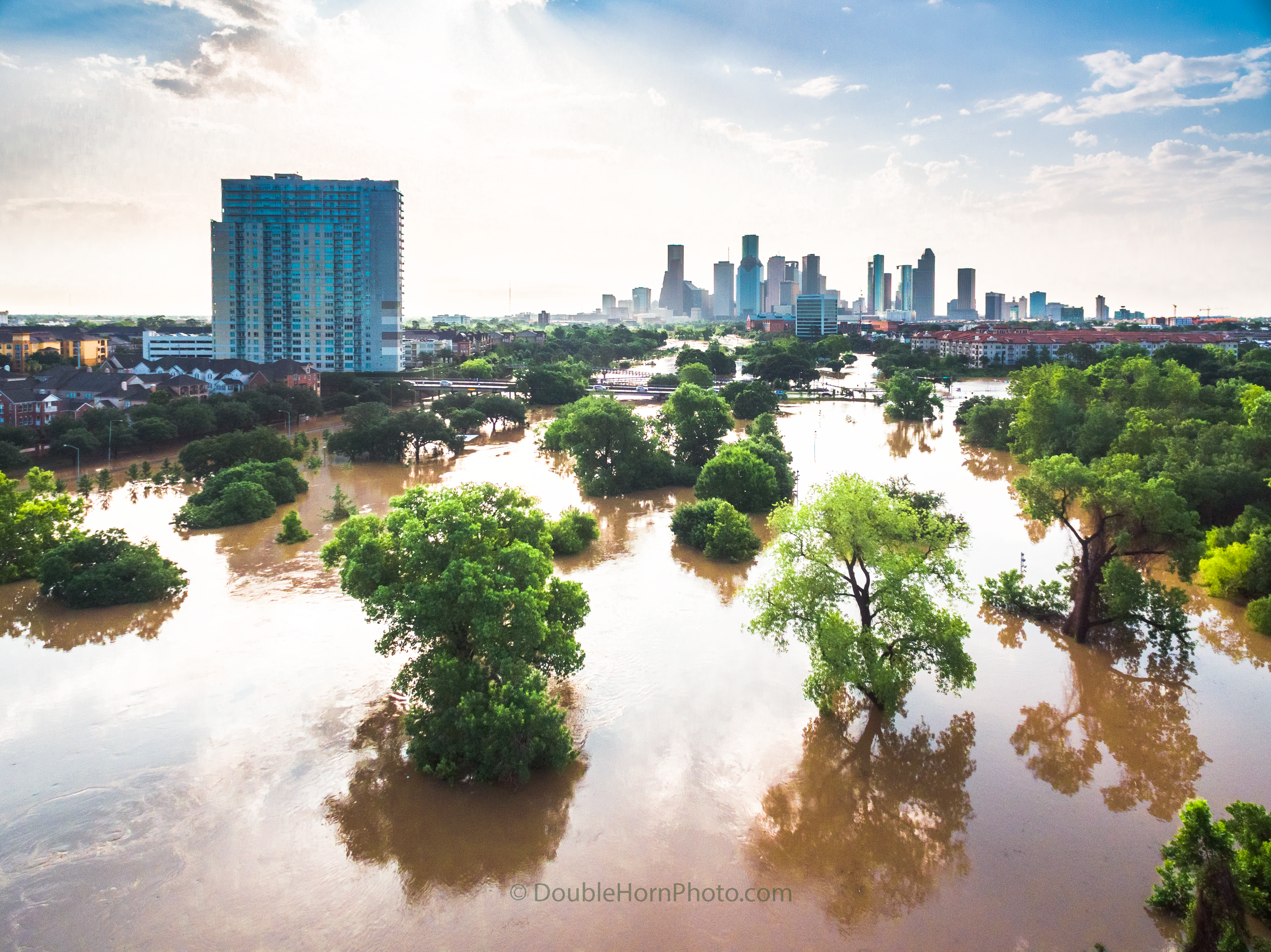 This is a look downtown from Waugh and Allen Parkway 5/26/2015