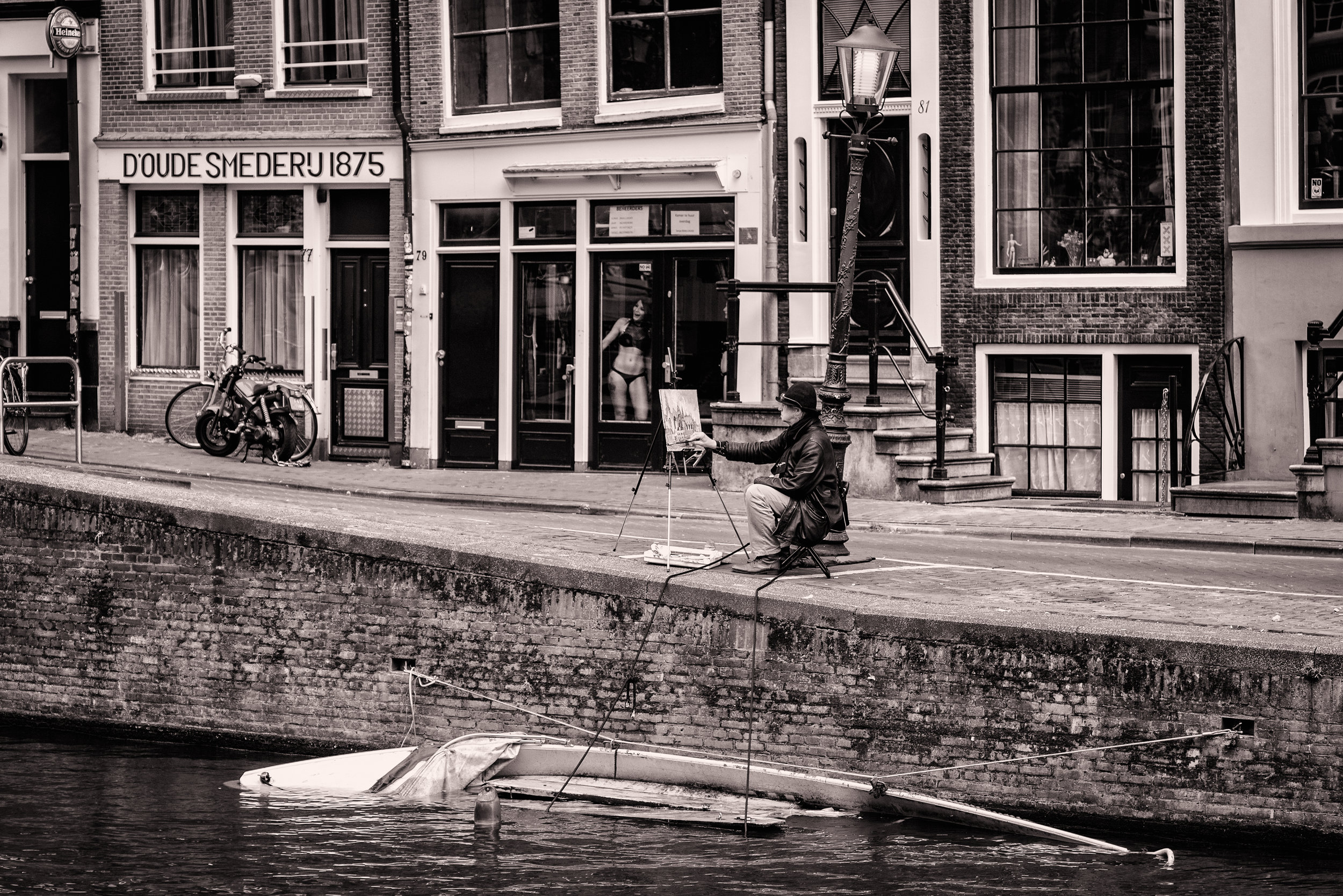 Amsterdam Painter B&W.jpg