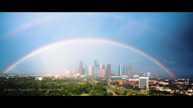 The only good thing about FPSF this year was this double rainbow! #fpsf #fpsf2017 #houston #weather #houstonweather #storms #flashflood #cancelled