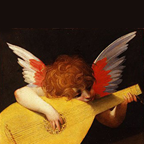 Angel With Lute  by Rosso Forentino