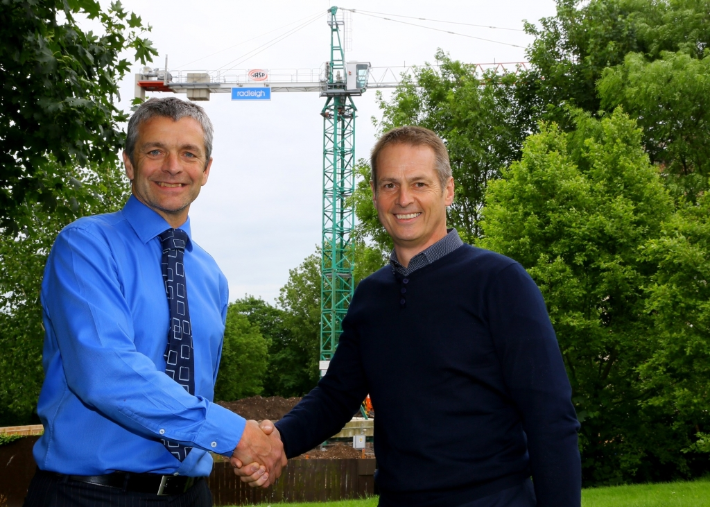 Radleigh Project Manager, Paul Brennan (left) pictured with Joint Managing Director of Radleigh, Chris Neve (right).