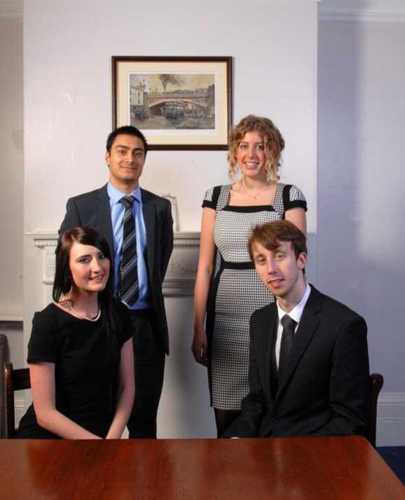 Left to right: Natasha Hybner, Mahir Raoof, Natalie Dyer and Robert Lambton.