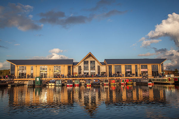 The Boardwalk at Mercia Marina includes shops, offices and a pub.