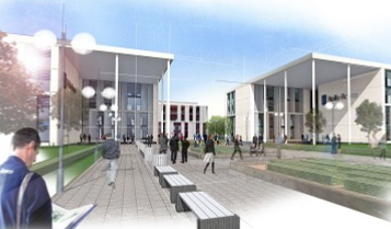 "A drawing of the proposed plans for Rolls-Royce's new ""aerospace campus"""