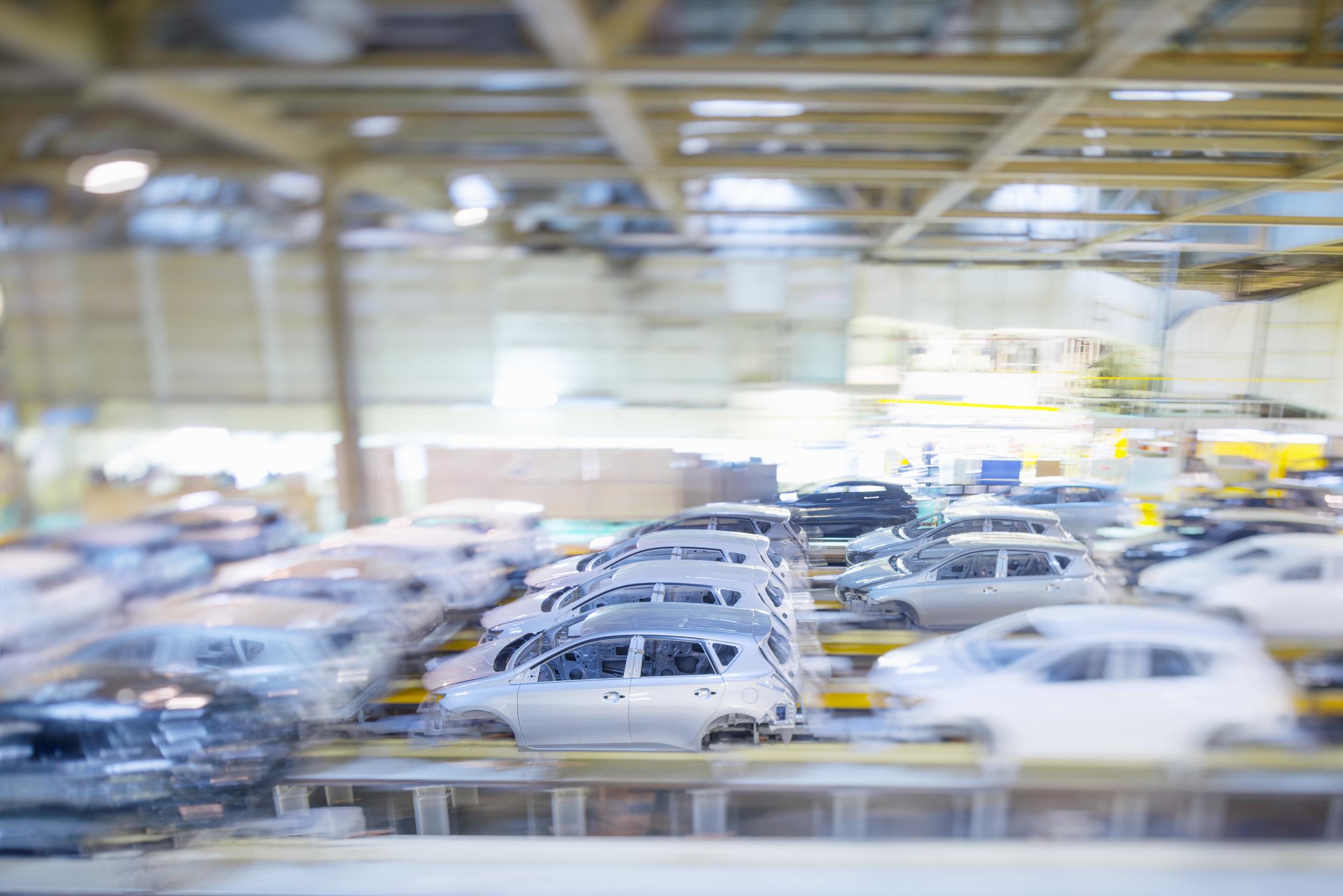 Inside Toyota's Derbyshire factory based in Burnaston.
