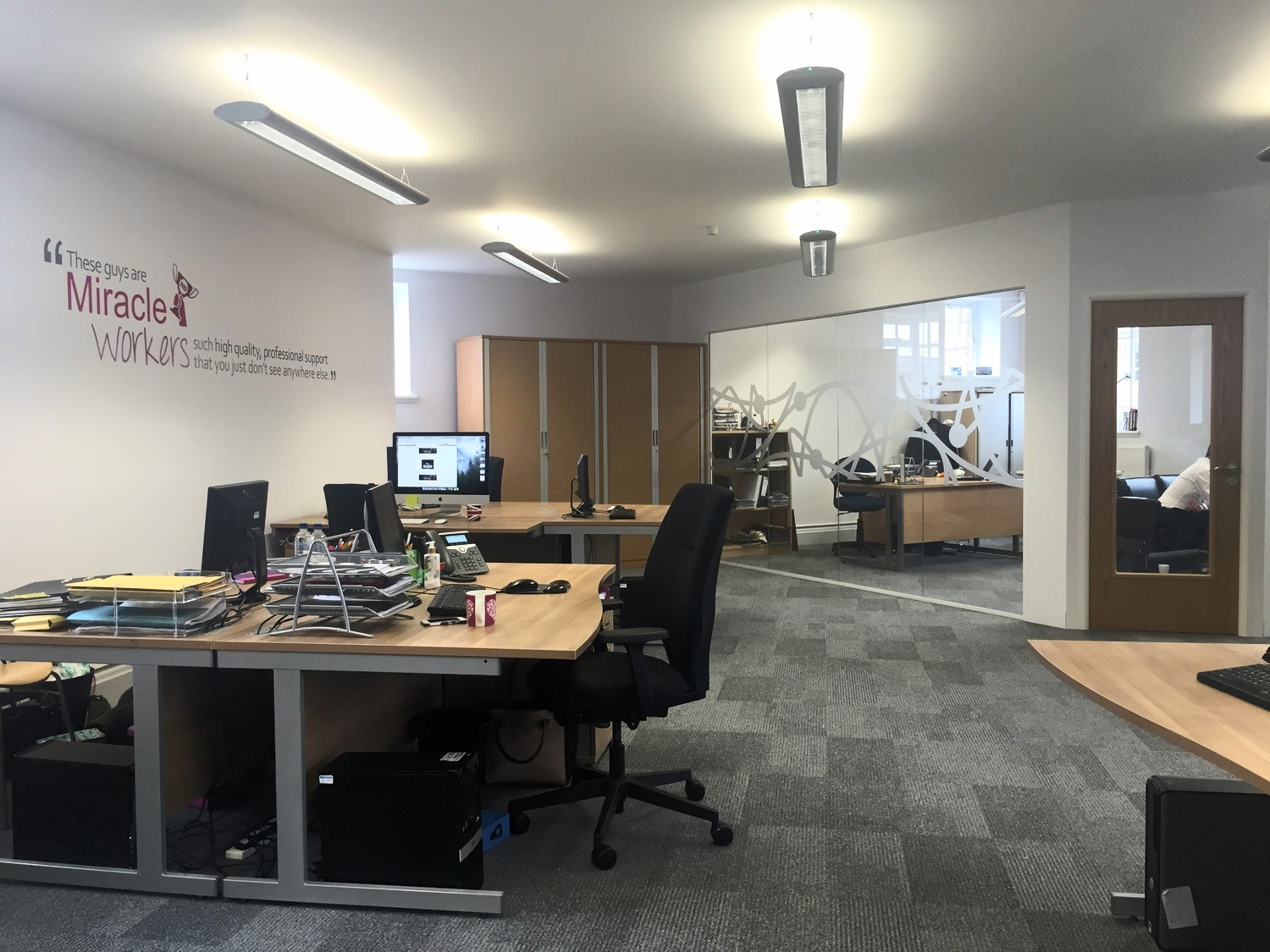 Our main office at Riverside Chambers, all up and running!