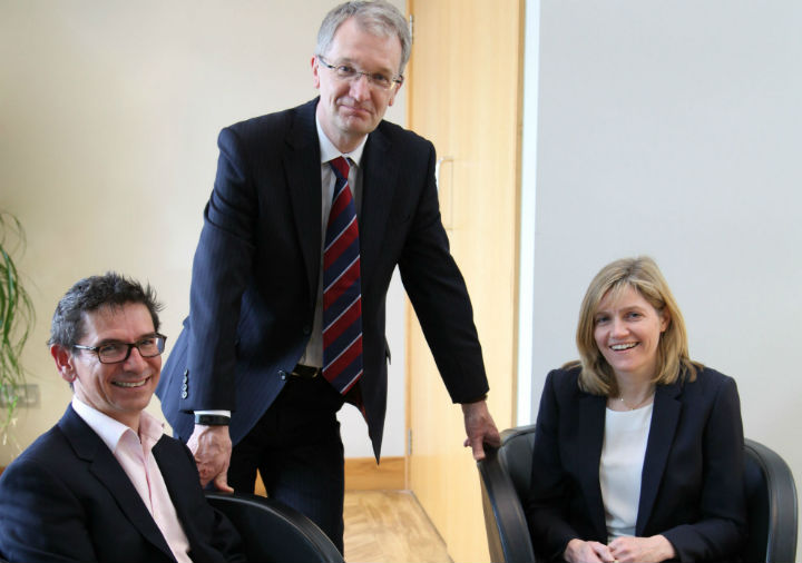 From left to right: Graham Banks (Partner and Head of the Derby office), David Williams, Chairman at Geldards, and Heather Dixon, Partner at Geldards Law Firm