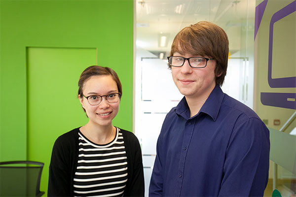 The new recruits at Purpose Media, Maria and Ben