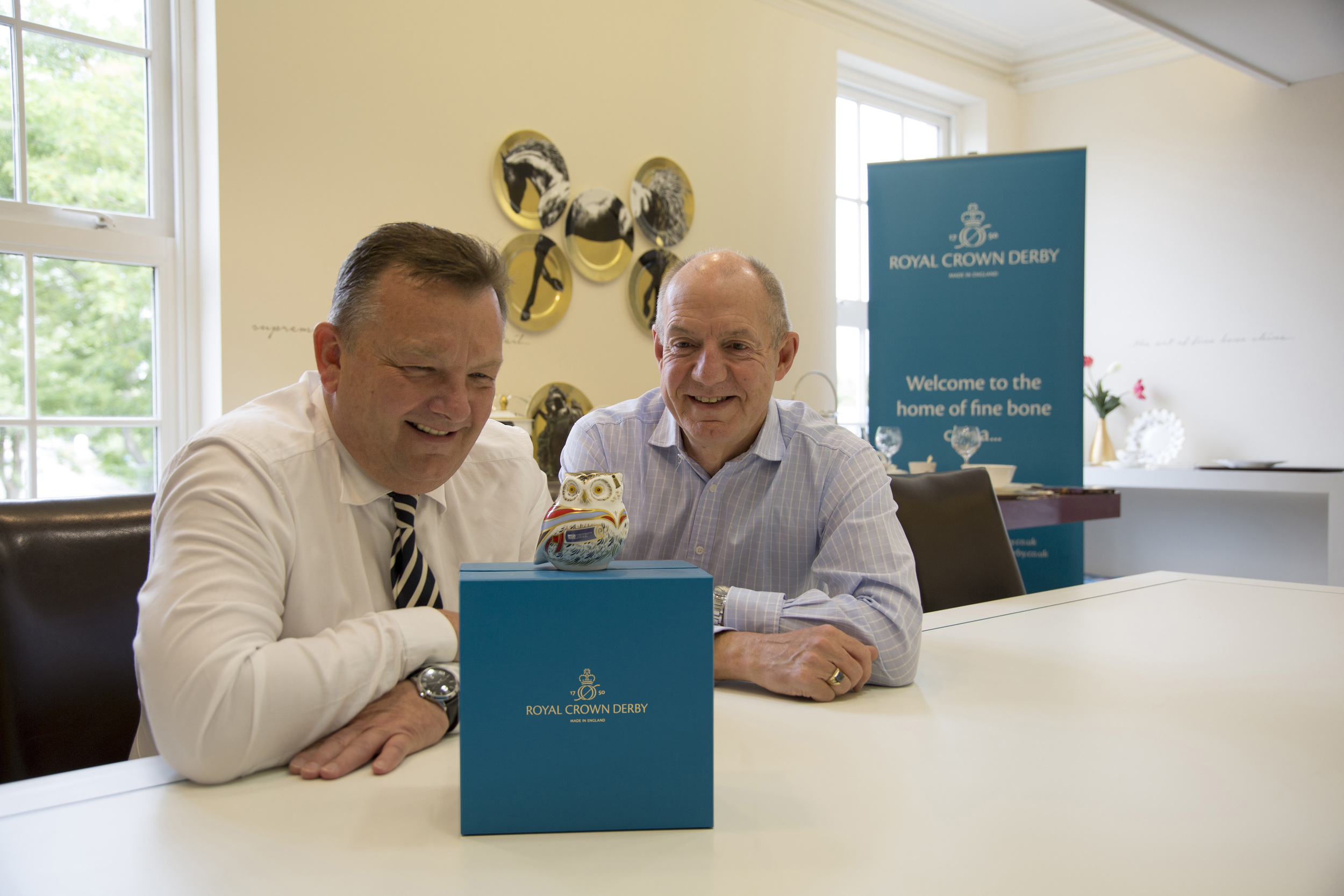 From left to right: Kevin Oakes, CEO at Royal Crown Derby and Vice-Chancellor John Coyne