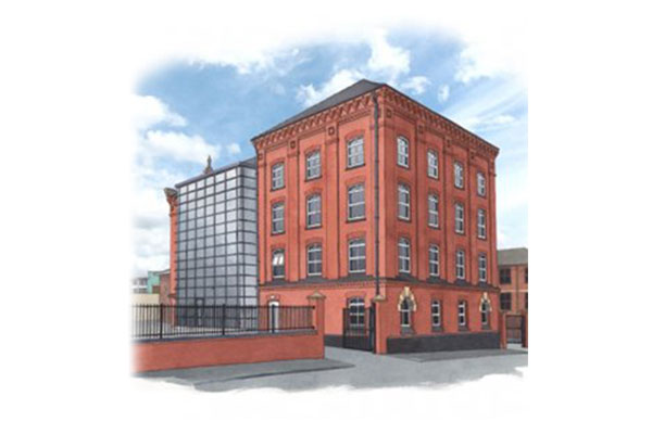 An artist's impression of the works to be completed at Sterne House
