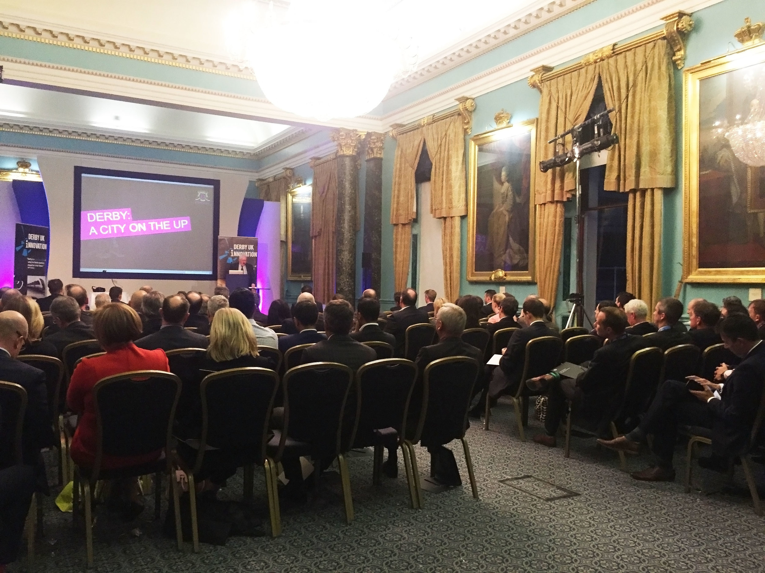 John Forkin introduces delegates to Derby and its three key selling points