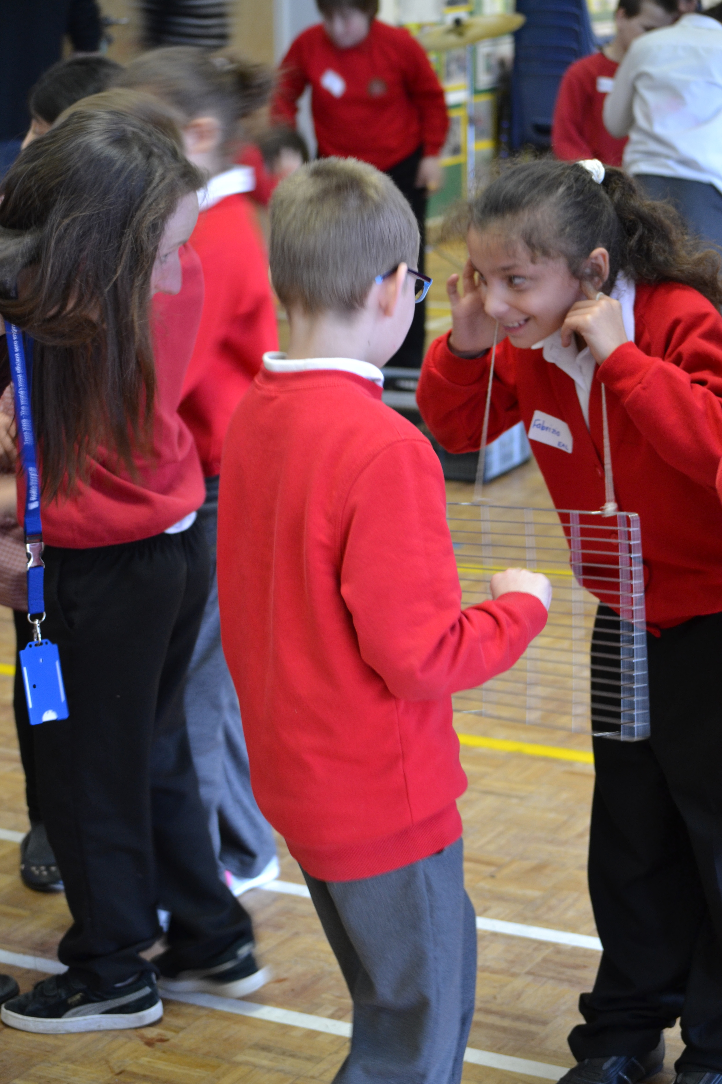 Derby schoolchildren work with Viva and Rolls-Royce on a STEM project exploring how sound waves travel through solid objects.jpg
