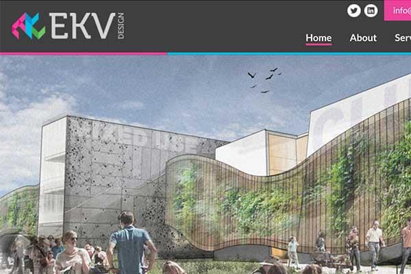 A glimpse of EKV Design's new website produced by fellow Bondholder, DE22.