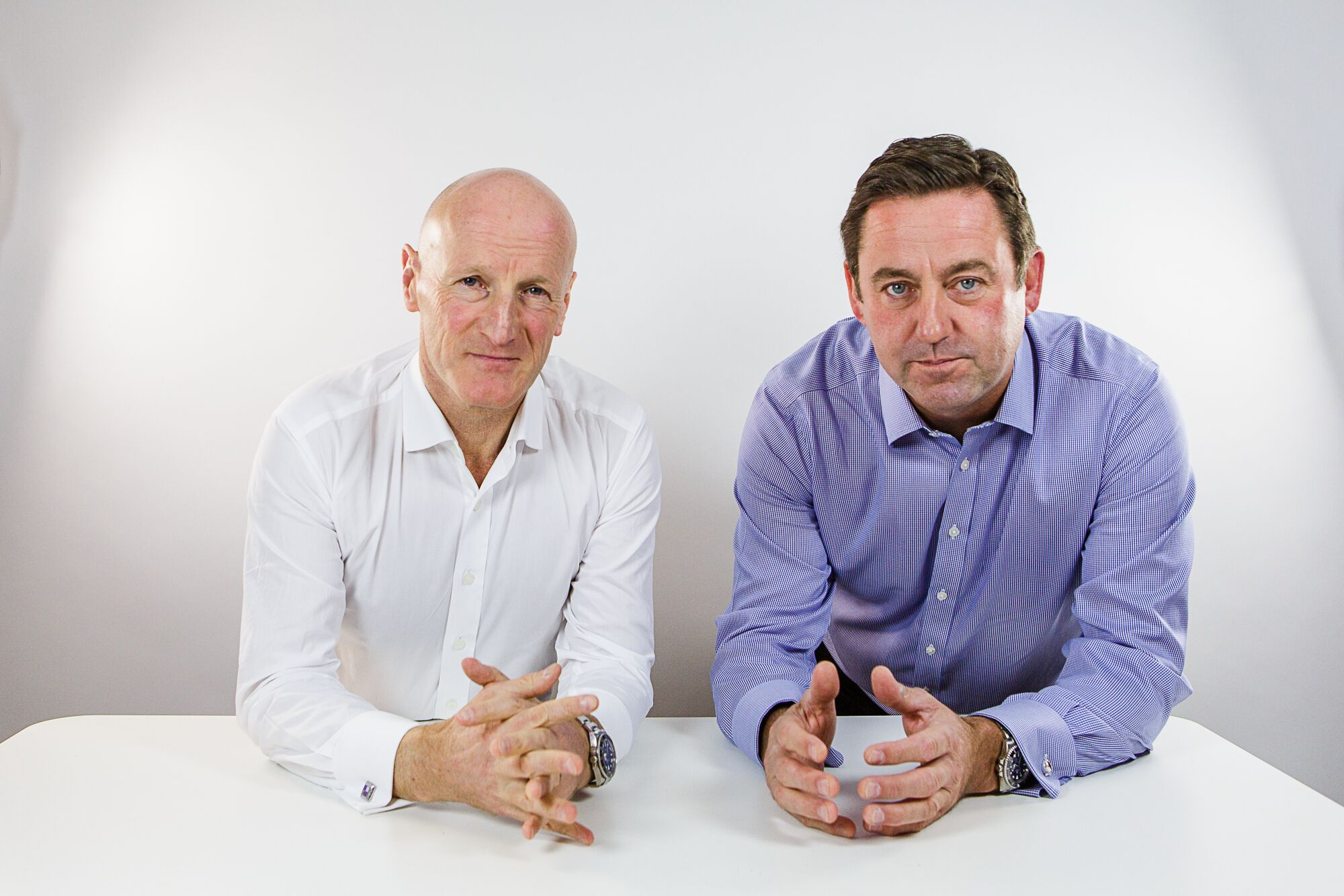 Managing Parter at Darbys, Simon McCrum (left), and David Beech, CEO of Bondholder Knights Professional Services.