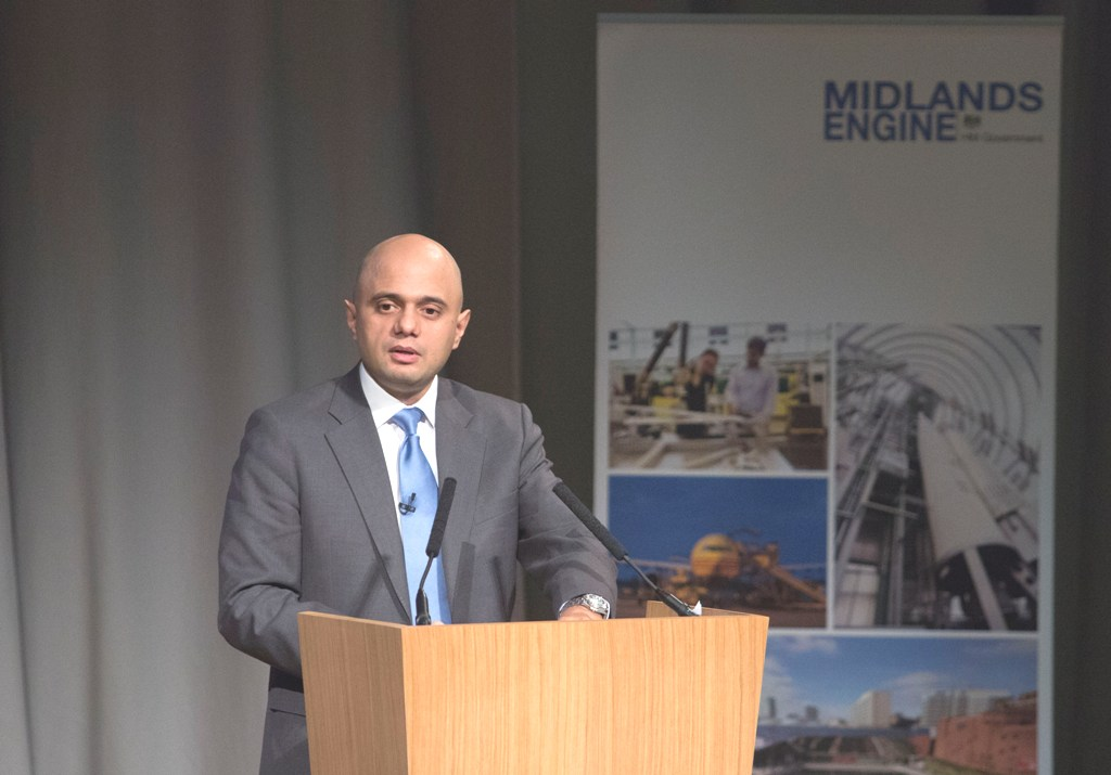 Secretary of State for Business, Innovation and Skills, Sajid Javid, at the  Midlands Engine launch last week.