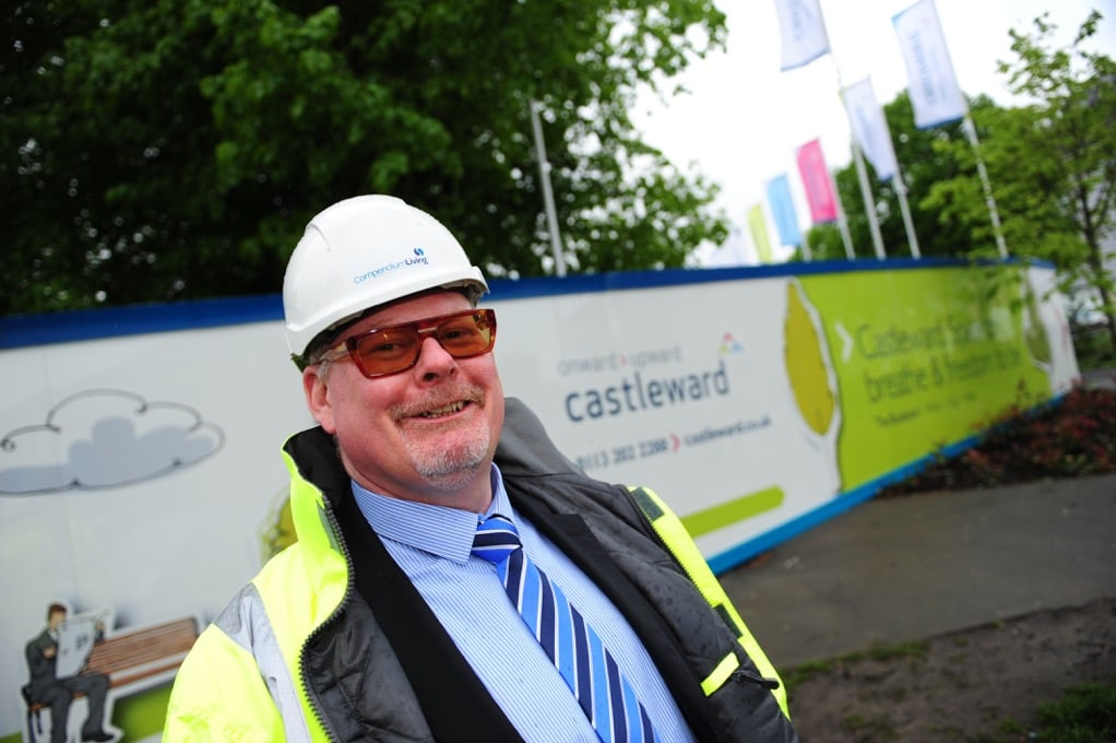 Managing Director at Compendium Living, Dave Bullock, outside the Castleward development