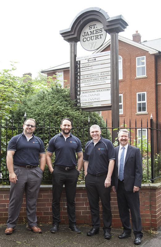 RDS Global team in St James Square, Derby