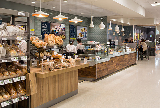 Inside a typical Waitrose store