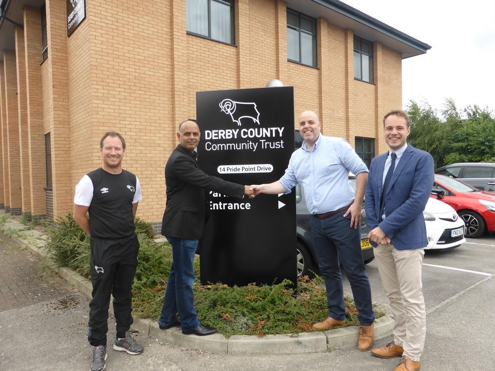L-R Paul Newman (DCCT), Bally Shanker (Landlord), Simon Carnall (DCCT), Chris Wright (BB&J) Handshake.JPG