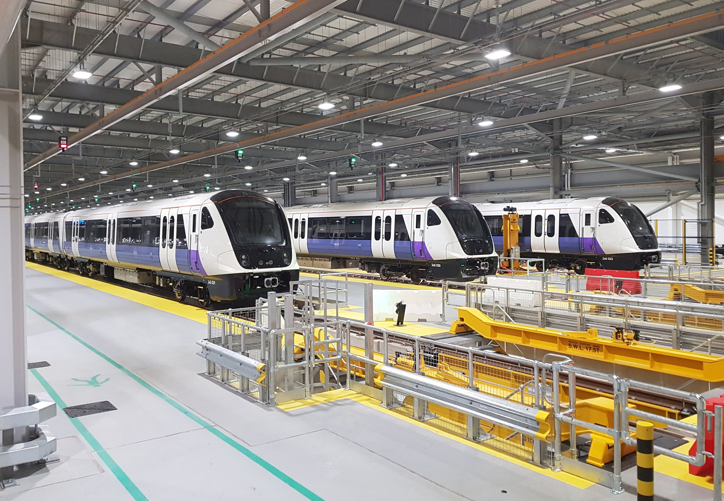 Bombardier AVENTRA Trains Elizabeth Line