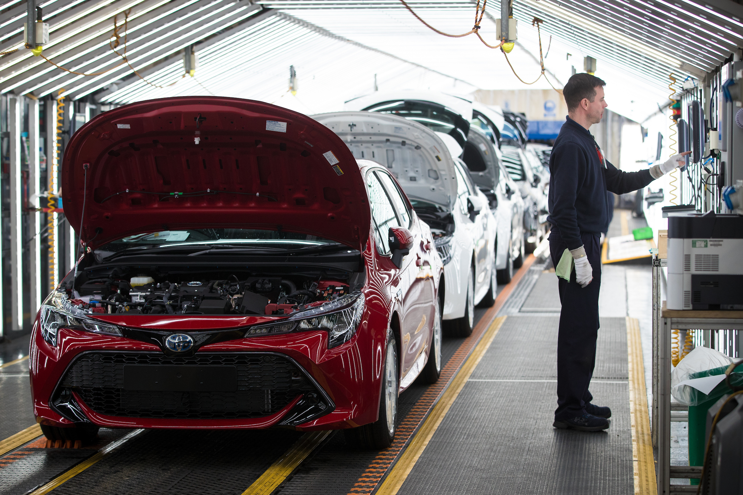 31/01/19  ***Free Photo for Editorial Use***  Toyota Corolla production at Burnaston, Derbyshire.  All Rights Reserved, F Stop Press Ltd.  (0)7765 242650  www.fstoppress.com rod@fstoppress.com