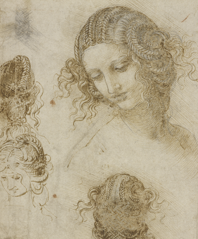 Studies for the head of Leda