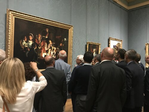 Joseph Wright of Derby's masterpiece 'An Experiment on a Bird in the Air Pump', at The National Gallery, London